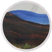 Dagrar Over Salenfjallen- Shifting Daylight Over Distant Horizon 2 Of 10_0035 50x40 Cm Round Beach Towel