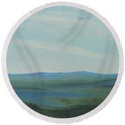 Dagrar Over Salenfjallen- Shifting Daylight Over Distant Horizon 6a Of 10_0027 50x40 Cm Round Beach Towel