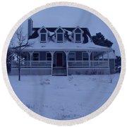 Dahl House Round Beach Towel by Gene Gregory