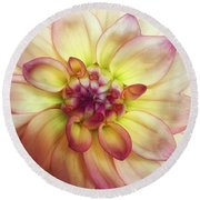 Dahlia Delight Round Beach Towel