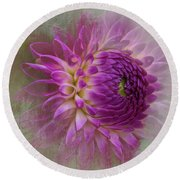Dahlia Dream Round Beach Towel