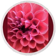 Dahlia Round Beach Towel