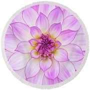 Dahlia Oriental Dream Round Beach Towel