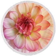 Dahlia Rainbow Beauty Round Beach Towel