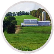 Dairy Country Round Beach Towel
