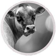 Dairy Cow Elsie Round Beach Towel