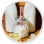 Dairy Delights Round Beach Towel