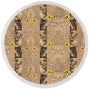 Daisy Designs Round Beach Towel