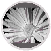 Daisy Flower Round Beach Towel