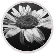 Daisy I Round Beach Towel by Marna Edwards Flavell