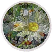 Daisy Mystique 8 Round Beach Towel