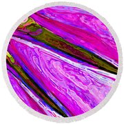Daisy Petal Abstract 1 Round Beach Towel