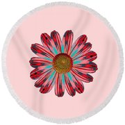 Daisy Pop Art Round Beach Towel