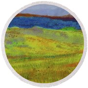 Dakota Dream Land Round Beach Towel