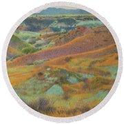 Dakota October Round Beach Towel