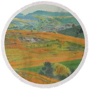 Dakota Prairie Dream Round Beach Towel