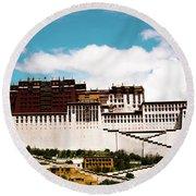 Dalai Lama Home Place. Potala Palace  Kailash Yantra.lv 2016 Tibet Round Beach Towel