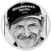 Dale Earnhardt Sr In 2001 Round Beach Towel