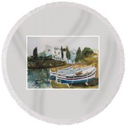 Dali House From Portlligat Round Beach Towel