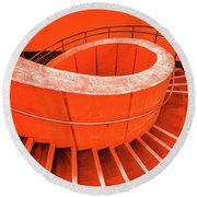 Dali Museum Staircase In Red Round Beach Towel