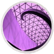 Dali Museum Staircase Round Beach Towel