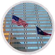 Dallas 3 Of 5 Lone Star Round Beach Towel by Tina M Wenger