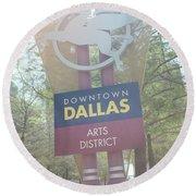 Dallas Arts District Round Beach Towel
