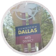 Dallas Arts District Round Beach Towel