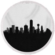 Dallas Cityscape Art Round Beach Towel