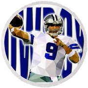 Dallas Cowboys Round Beach Towel by Stephen Younts