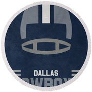 Dallas Cowboys Vintage Art Round Beach Towel