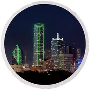 Dallas Skyline 071316 Round Beach Towel