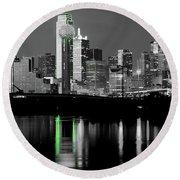 Dallas Skyline Gr91217 Round Beach Towel
