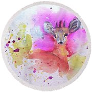 Damara Dik Dik Round Beach Towel