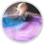 Dance Ballerina Round Beach Towel