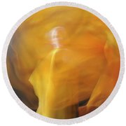 Dance Of Fire Round Beach Towel