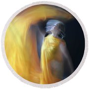 Golden Light Round Beach Towel