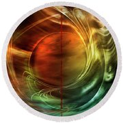 Dance In Color Symphony Round Beach Towel