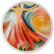 Dance Me To The End Of Time Round Beach Towel by Itzhak Richter