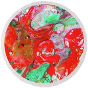 Dance Of Love - Colorful Happy Art Paintings Round Beach Towel