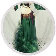 Dance Of The Belly Round Beach Towel
