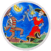 Dance Of The Dead Round Beach Towel by Dale Loos Jr