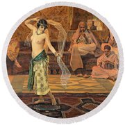 Dance Of The Seven Veils Round Beach Towel