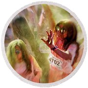 Round Beach Towel featuring the photograph Dance by Okan YILMAZ