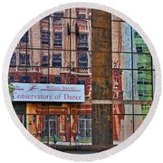 Round Beach Towel featuring the photograph Dance by Skip Willits
