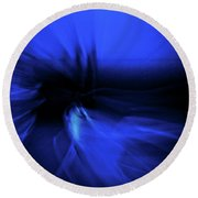 Dance Swirl In Blue Round Beach Towel