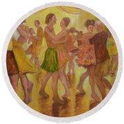 Dance Trance Round Beach Towel