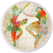 Dance With Me Round Beach Towel by Nikki Smith