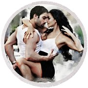Dance With Passion Round Beach Towel