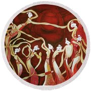 Dance With The Wind Round Beach Towel